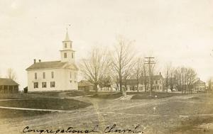 USA - Congregational Church on Town Square  *RPPC