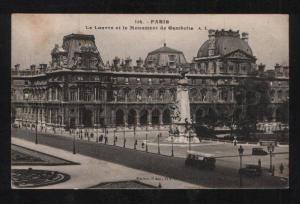 058630 FRANCE Paris le Louvre et le monument de Gamb