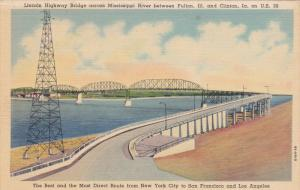Lincoln Highway Bridge across Mississippi River between Fulton, Illinois and ...
