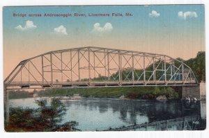 Livermore Falls, Bridge across Androscoggin River