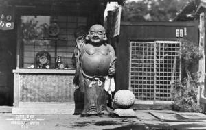 Japan - Kamakura. Curio Shop, Happy God Image - RPPC