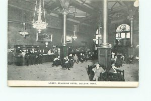 Buy Old Minnesota Postcards Spalding Hotel Lobby Duluth