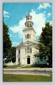 Old Bennington VT-Vermont, 1805 Old First Church, Cemetery, Chrome Postcard