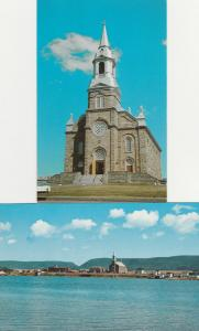 (2 cards) St Peter's Church, Cheticamp - Cape Breton NS, Nova Scotia, Canada