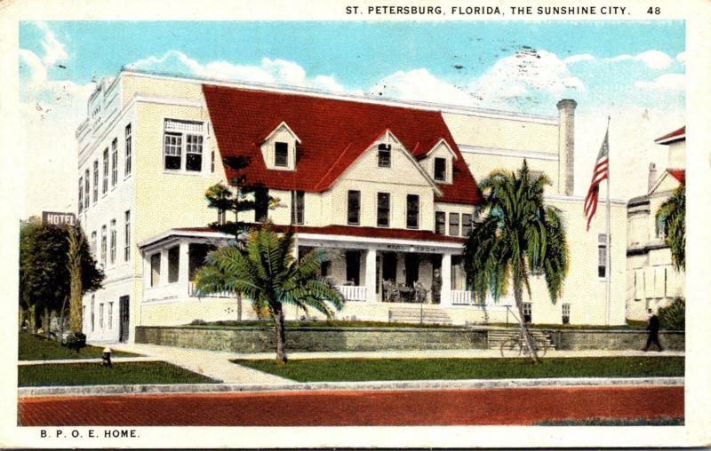Florida St Petersburg Elks Home 1926 Curteich