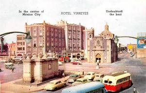 Mexico Old Vintage Antique Post Card Hotel Vierreyes Mexico City Unused