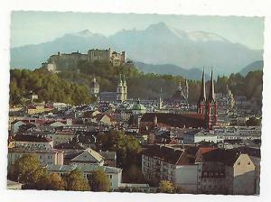 Austria Salzburg Festspielstadt Panoramic View Vtg Herndl Photo 4X6 Postcard