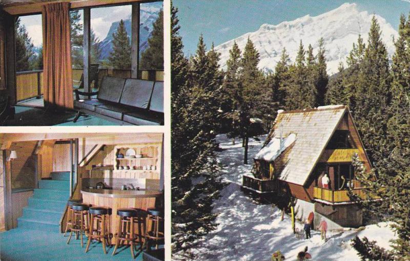 3-Views, Douglas Fir Chalets, Banff, Alberta,  Canada, 40-60s