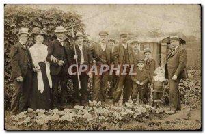 PHOTO CARD men in fields