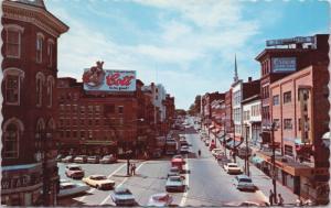 Main Street Bangor Maine ME Cost Fruit Soda Sign Vintage Postcard D39
