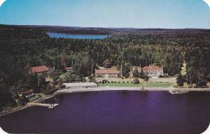 Aerial View of Braemar Lodge, Lake Ellenwood, New Yarmouth, Nova Scotia, Cana...