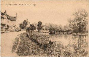 CPA Samois Vue du Pont pour le halage FRANCE (1101212)