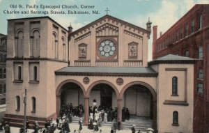 BALTIMORE , Maryland , 1900-10s , St Paul's Episcopal Church