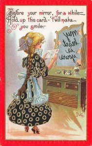 Fortune Teller My heart is yours Dwig Artist Signed Postcard