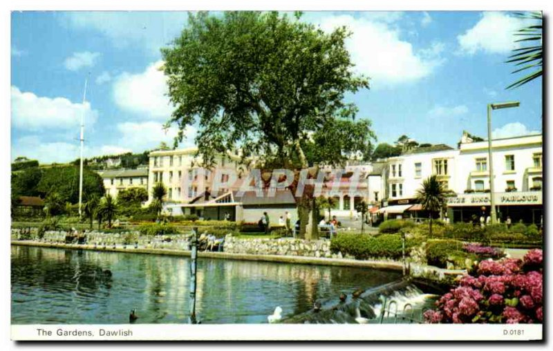 Old Postcard The Gardens Dawlish