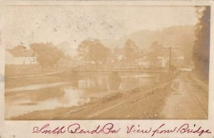 South Bend Pennsylvania View From Bridge Real Photo Antique Postcard K107307