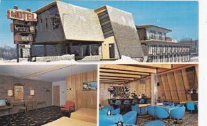 3-Views,  Motel Senateur,  Mont-Laurier,  Quebec,  Canada,  PU-1987