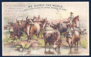 VICTORIAN TRADE CARD St Louis Beef Canning Solid Canned Meat