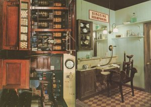 Victorian Hairdressers Barbers & Grocers Shop London Postcard s