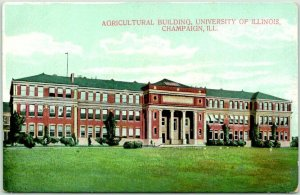 Vintage 1910s UNIVERSITY OF ILLINOIS Postcard Agricultural Building Champaign