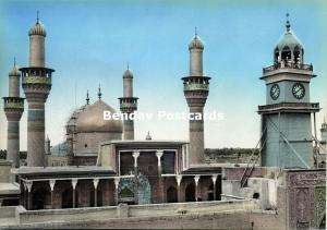 iraq, BAGHDAD BAGDAD, Kadhimain Mosque, Golden Dom, Islam (1950s) Tinted RPPC