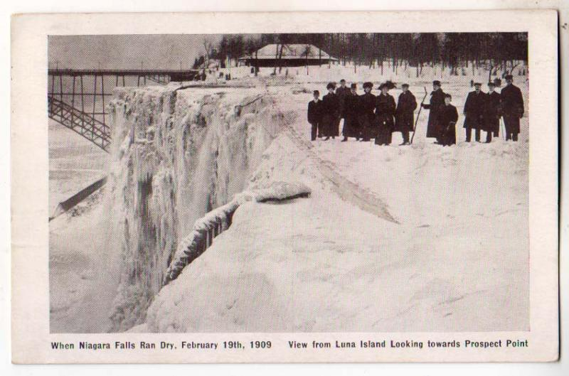 When Niagara Falls Ran Dry, Feb 19th 1909