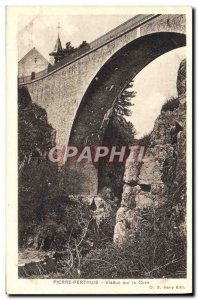Old Postcard Pierre-Perthuis Viaduct On the Cure