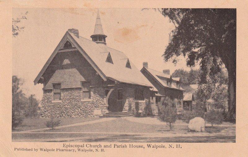 WALPOLE, New Hampshire, 1900-1910's; Episcopal Church And Parish House