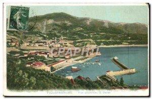 Old Postcard Villefranche sur mer Vue generale La Darse