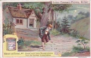 Liebig Vintage Trade Card S479 Hansel & Gretel No 1 Hansel sucht Kieselsteine