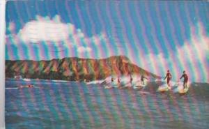 Surfing At Waikiki Beach Hawaii 1949