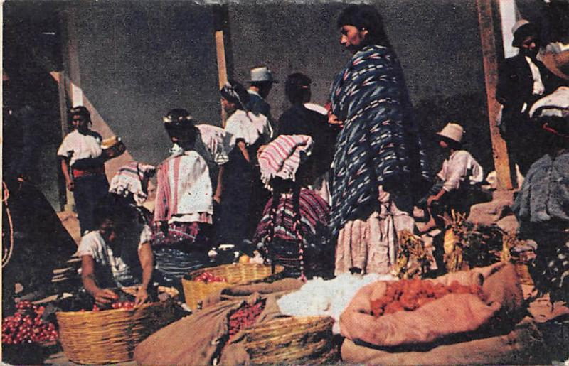 Guatemala Antigua Mercado, Market, Commerce, Shop 1947