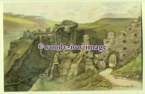 DS048 - Cornwall - Tintagel, the Castle Ruins, Artist - David Skipp - Postcard