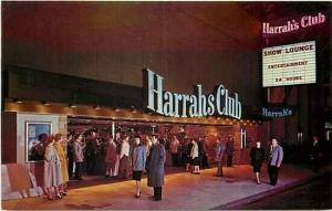 NV, Las Vegas, Nevada, Flaming Harrahs Club,Show Lounge Sign