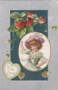 True Love, Strawberries, Girl posing with hand on hip, PU-1908