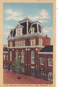 Virginia Alexandria Alexandria Washington Masonic Lodge 1950