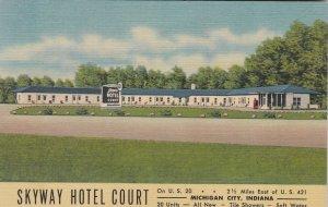 Indiana Michigan City Skyway Hotel Court Curteich sk5087