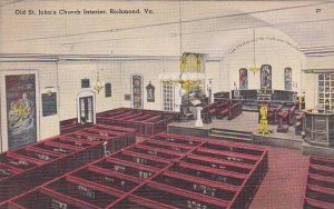 Virginia Richmond Old Saint JohnS Church Interior