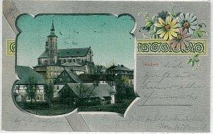 VINTAGE POSTCARD: Czech Republic - Mikulášovice Nixdorf 1918