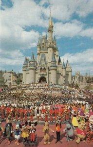 WALT DISNEY World , Florida , 1970s; Cinderella Castle, Mickey Mouse and Friends