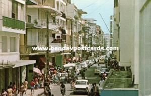 guadeloupe F.W.I., POINT-A-PITRE, Rue Frebault, Main Shopping Street, Car (1974)