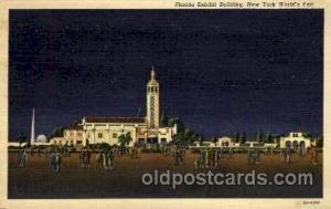 New York Worlds Fair 1939 exhibition postcard Post Card  Florida Bldg.