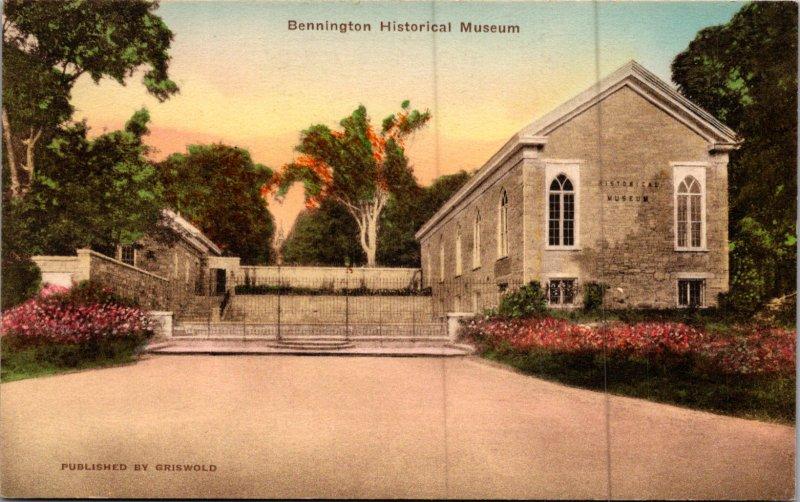 Bennington Historical Museum outside view vermont vtg postcard