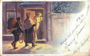 Artist Signed Krampus and Nicolo Saint Nicolas 04.90