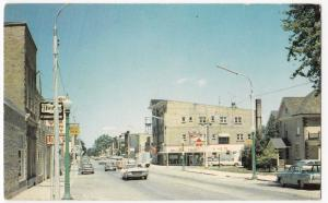 Canada; Exeter, Ontario, Main St,  PPC, 1975 Local PMK, To Exeter Devon