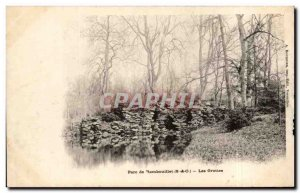 Postcard Old Park Rambouillet Caves