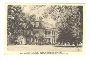 Home of the Caters, here was born and Married Anne Hill Carier, Mother of Gen...