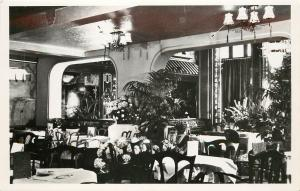 RPPC Postcard Nanking Chinese Restaurant Amsterdam Holland Archways and Tables