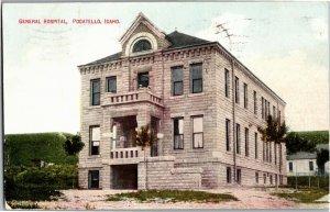 General Hospital Pocatello ID c1911 Vintage Postcard E21