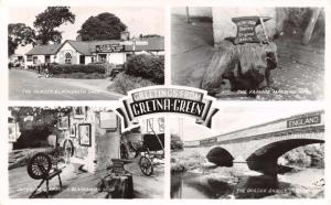 Vintage 1953 Multiview Real Photo Postcard GRETNA GREEN